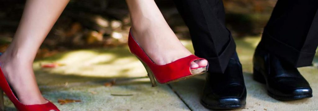 woman and man shoes