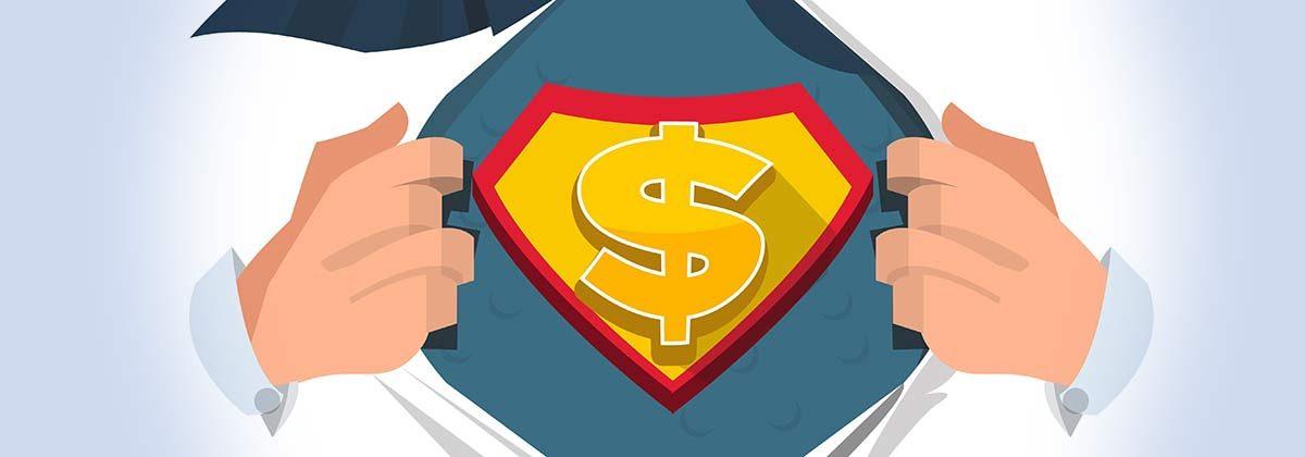 savings superhero