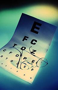 Myopia eye chart