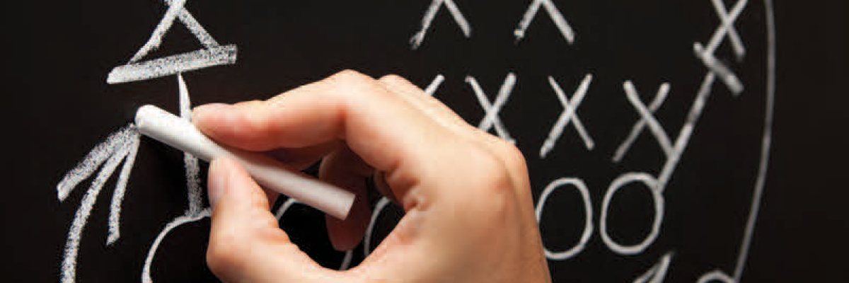 Online Optical Sales Strategy on chalkboard